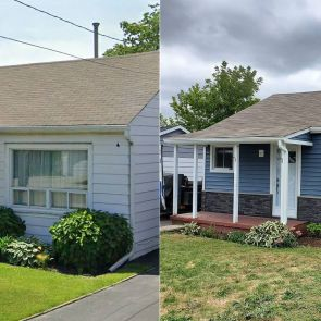 home exterior before after